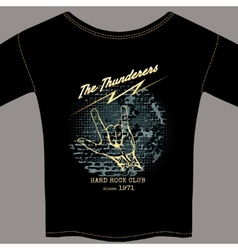 Hard rock t-shirt template vector image vector image