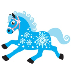 horse of winter vector image vector image