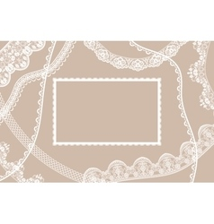 Lace ribbons card vector image vector image