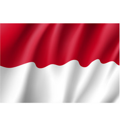 national flag of indonesian republic vector image vector image