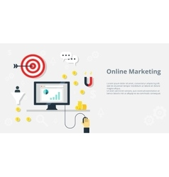 Online marketing concept internet bisiness and vector image vector image