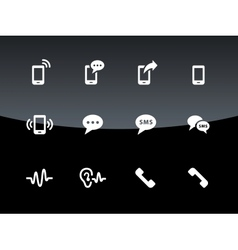 Phone icons on black background vector image vector image