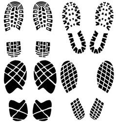 Set of black footprints vector image