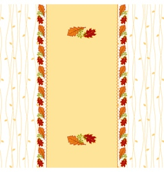 Autumn leaves frame greeting card vector image vector image