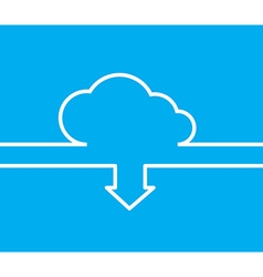 cloud with white lines and arrows with the same vector image vector image