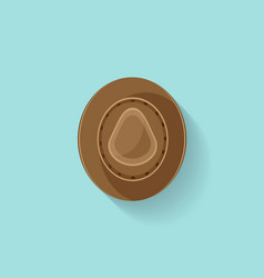 Hat in a Flat Style Travel cowboy cap Fashion vector image