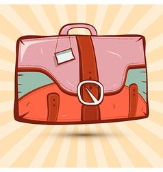 Retro suitcase on vintage background vector