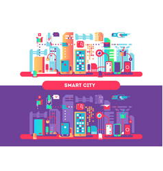 smart city concept vector image vector image