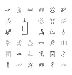 33 athlete icons vector