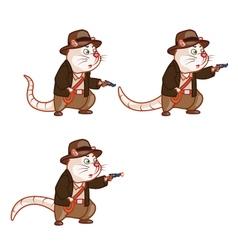 adventurer rat shooting pistol sprite vector image
