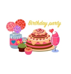 Birthday Party Sweets Collection vector image