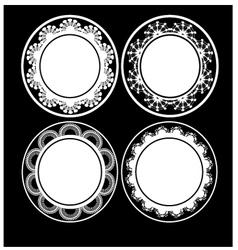 Black and white circular design vector image