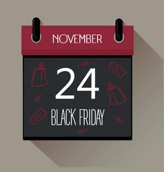 Black friday 2017 sale calendar vector