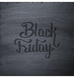 Black Friday Sale typographic label on chalkboard vector