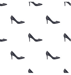 black womens highheeled shoes exit in a dress vector image
