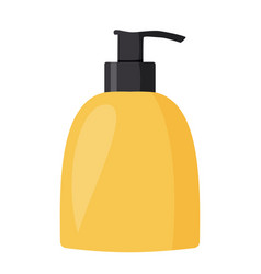 Bottle with liquid soap simple vector
