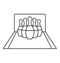 Bowling pines icon outline style vector
