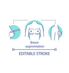 Breast augmentation concept icon vector