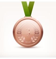 Bronze medal vector