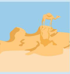 Camel in a desert vector