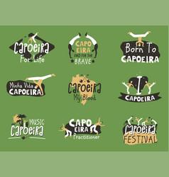 capoeira brazilian fighting dance vector image
