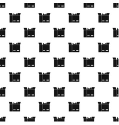 cat in a cardboard box pattern vector image