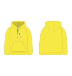 Children hoodie in yellow color isolated vector
