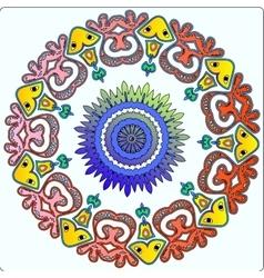 Circular Native Fairy Pattern Ornament vector