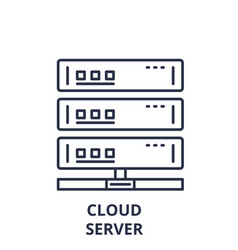 cloud server line icon concept cloud server vector image
