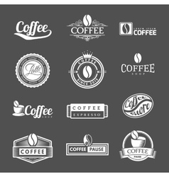 Coffee Labels Logo vector image