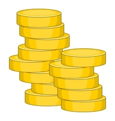 Coins icon cartoon style vector