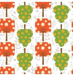 Colorful trees pattern vector