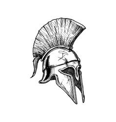 corinthian helmet vector image