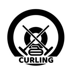 curling sport logo vector image