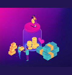 donation concept isometric vector image