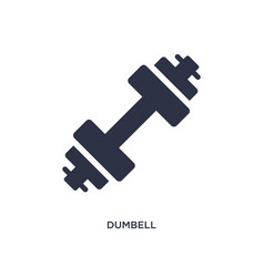 Dumbell icon on white background simple element vector
