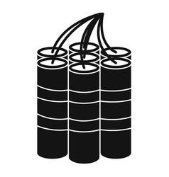 Dynamite sticks icon simple style vector
