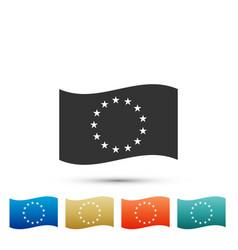 flag of european union icon on white background vector image