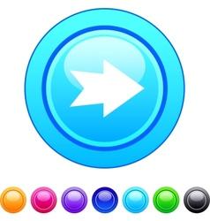 Forward arrow circle button vector image