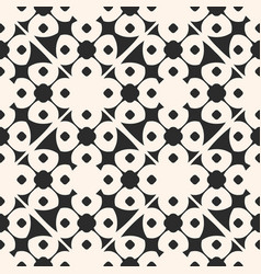 geometric floral ornamental seamless pattern vector image