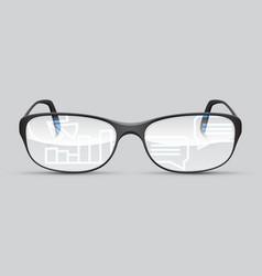 glasses future tech vector image