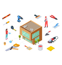 Hardware store concept construction supplies vector