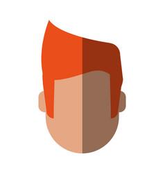 Head of faceless man icon image vector