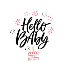 Hello baby hand drawn calligraphy vector