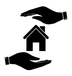 Home in hand icon vector image