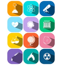 Icons for technology and science vector