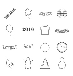 Icons new year vector image