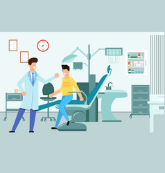 interior dentists office vector image