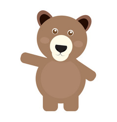 Isolated cute bear vector
