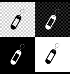 key chain icon isolated on black white and vector image